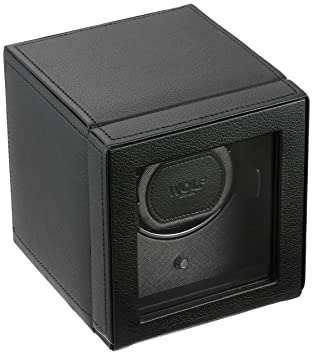 b6645491587 Amazon.com  WOLF Unisex 461103 Wolf Cub Single Black Analog Display Watch  Winder with Cover  Watches