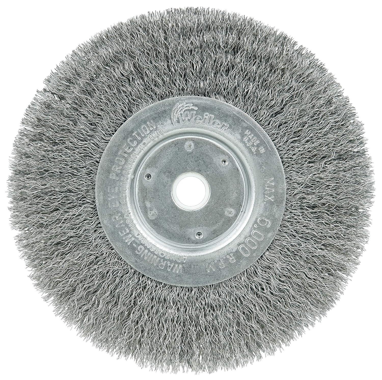 """Weiler 6/"""" x 1 1//4/"""" Wide Face Bench Grinder Wire Wheel Brush"""