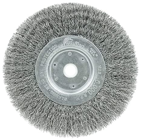 Made in The USA Pack of 2 3//4 Arbor Hole Weiler 01238 10 Narrow Face Crimped Wire Wheel.0104 Steel Fill