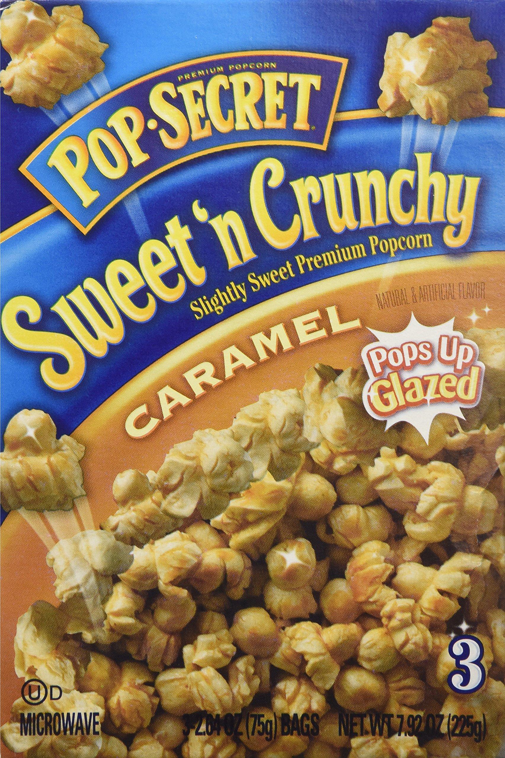 Pop-Secret Sweet 'N Crunchy Caramel Popcorn, 3 Bag Count/Box