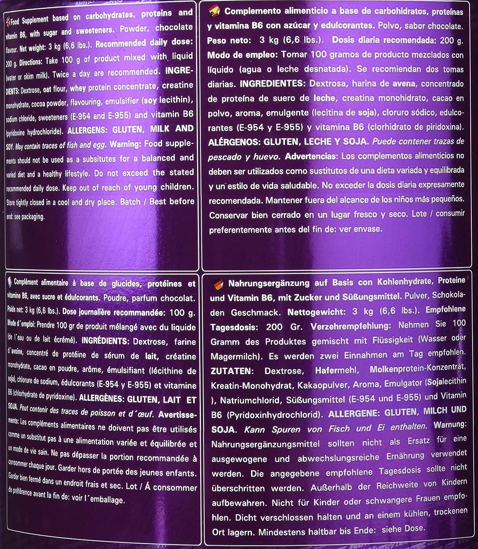 Nutrytec Colossus Gigant Platinum, Sabor a Chocolate - 3000 gr: Amazon.es: Salud y cuidado personal