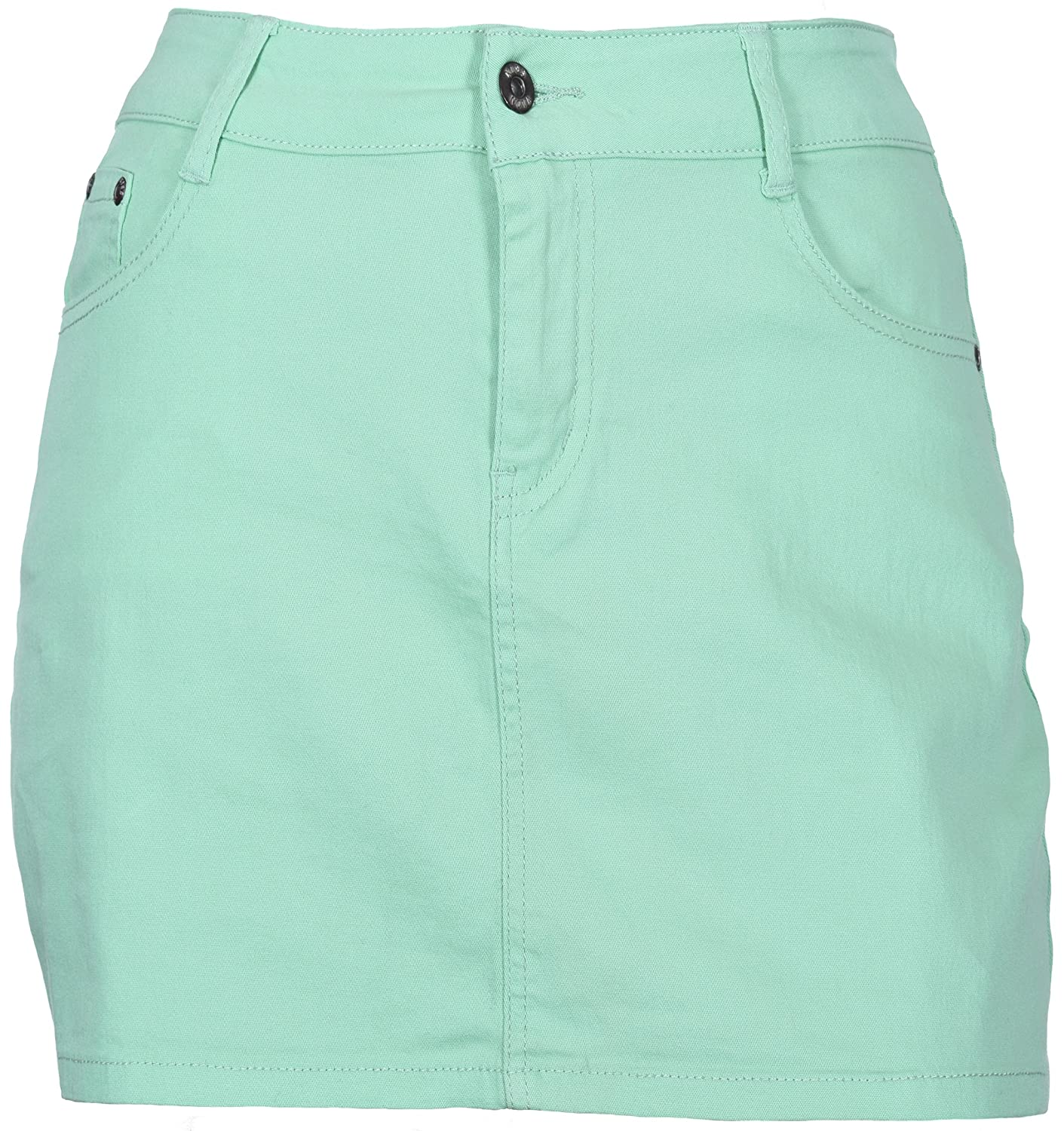 81a497d5d1 Kissnova Women's Soft Stretch Denim Mini Skirt with 5 Pockets Pastel Colors  Sizes 3/4 to 18 at Amazon Women's Clothing store: