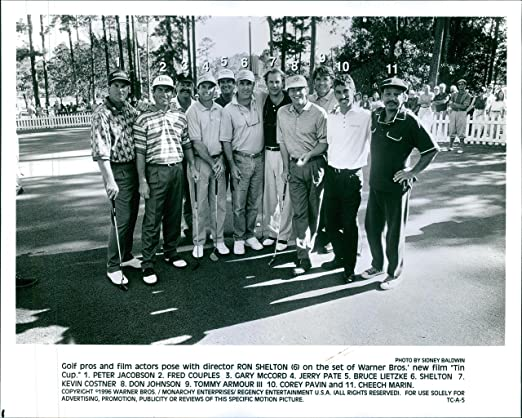 Vintage foto de Golf Pros y Film Actors Pose con Director Ron ...