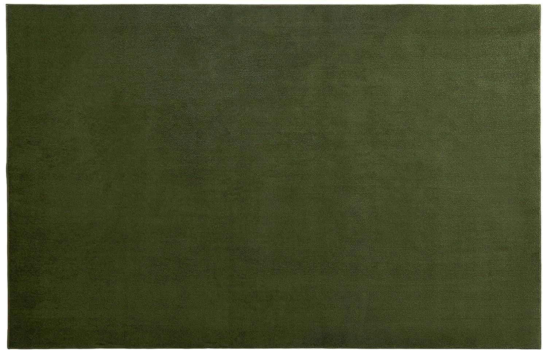 スミノエ(Suminoe) オーダーラグ グリーン 幅190cm×長さ155cm 抗菌ソフトプレーン 防炎 RK B01JFVV6DO  155 センチメートル