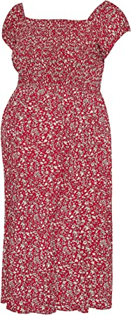 Yours Clothing Womens Bump IT UP Maternity Ditsy Floral Shirred Maxi Dress