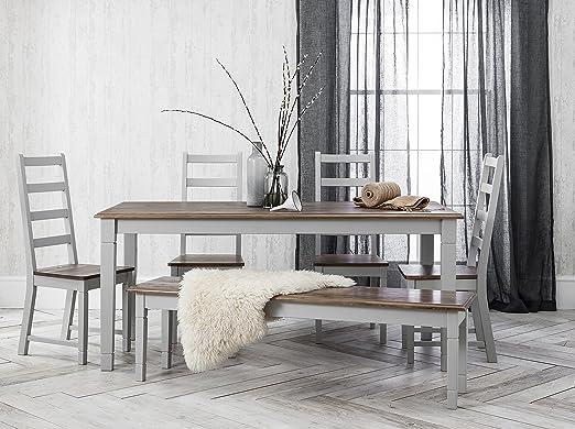 Noa & Nani – Juego de mesa de comedor y 5 sillas y banco ...
