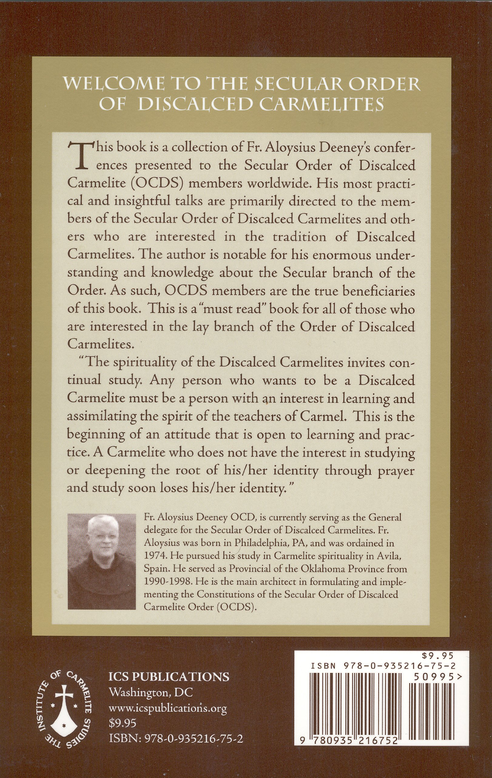 Welcome to the Secular Order of Discalced Carmelites: Amazon