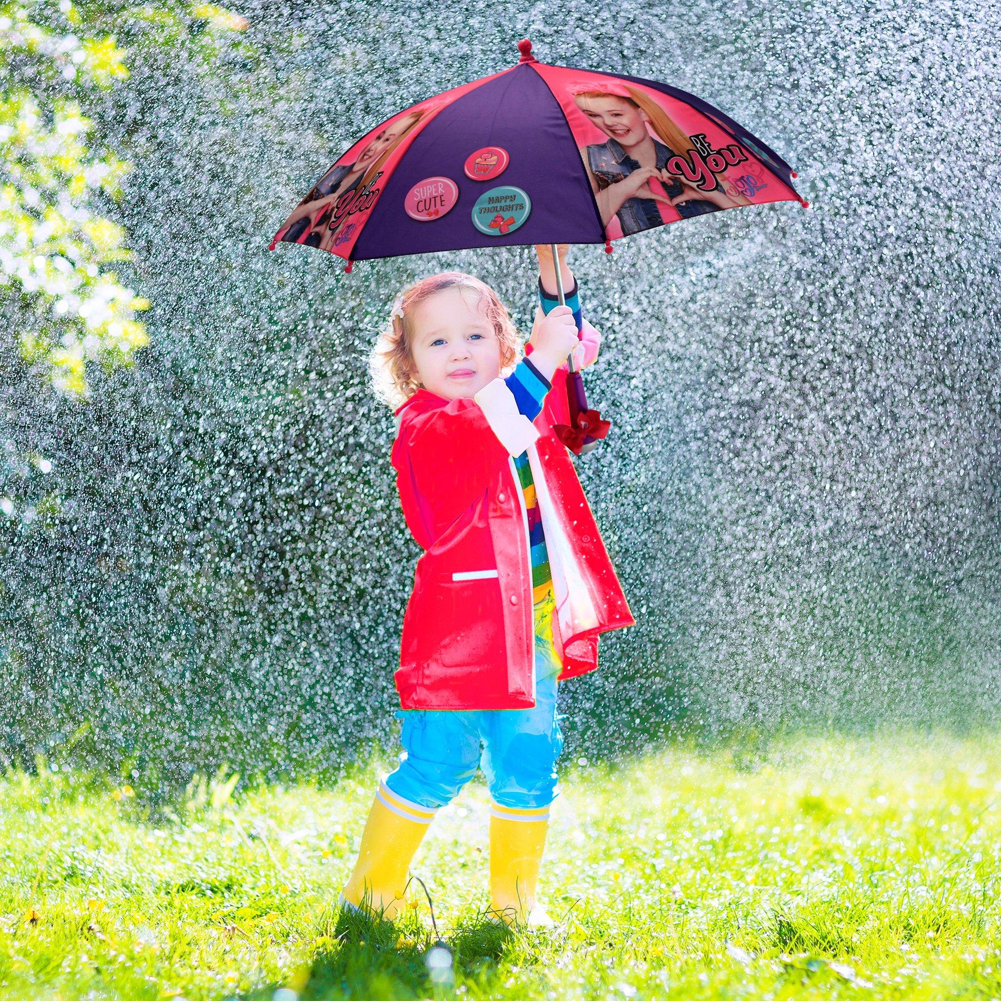 Nickelodeon Little Girls' Jojo Siwa Rainwear Character Umbrella, Purple/Pink, Age 3-7 by Nickelodeon (Image #3)