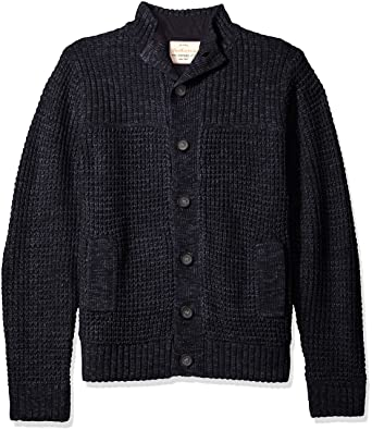 5a073dcba402d Weatherproof Vintage Men s Waffle Cardigan Sweater Jacket