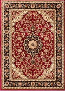 Well Woven Noble Medallion Red Persian Floral Oriental Formal Traditional Area Rug 3x5 4x6 3