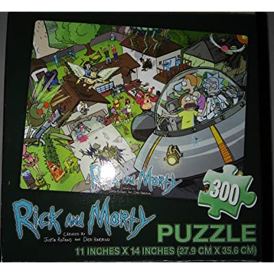 Ricky and Morty 300 Piece Puzzle Adult Swim Cartoon Network: Toys & Games