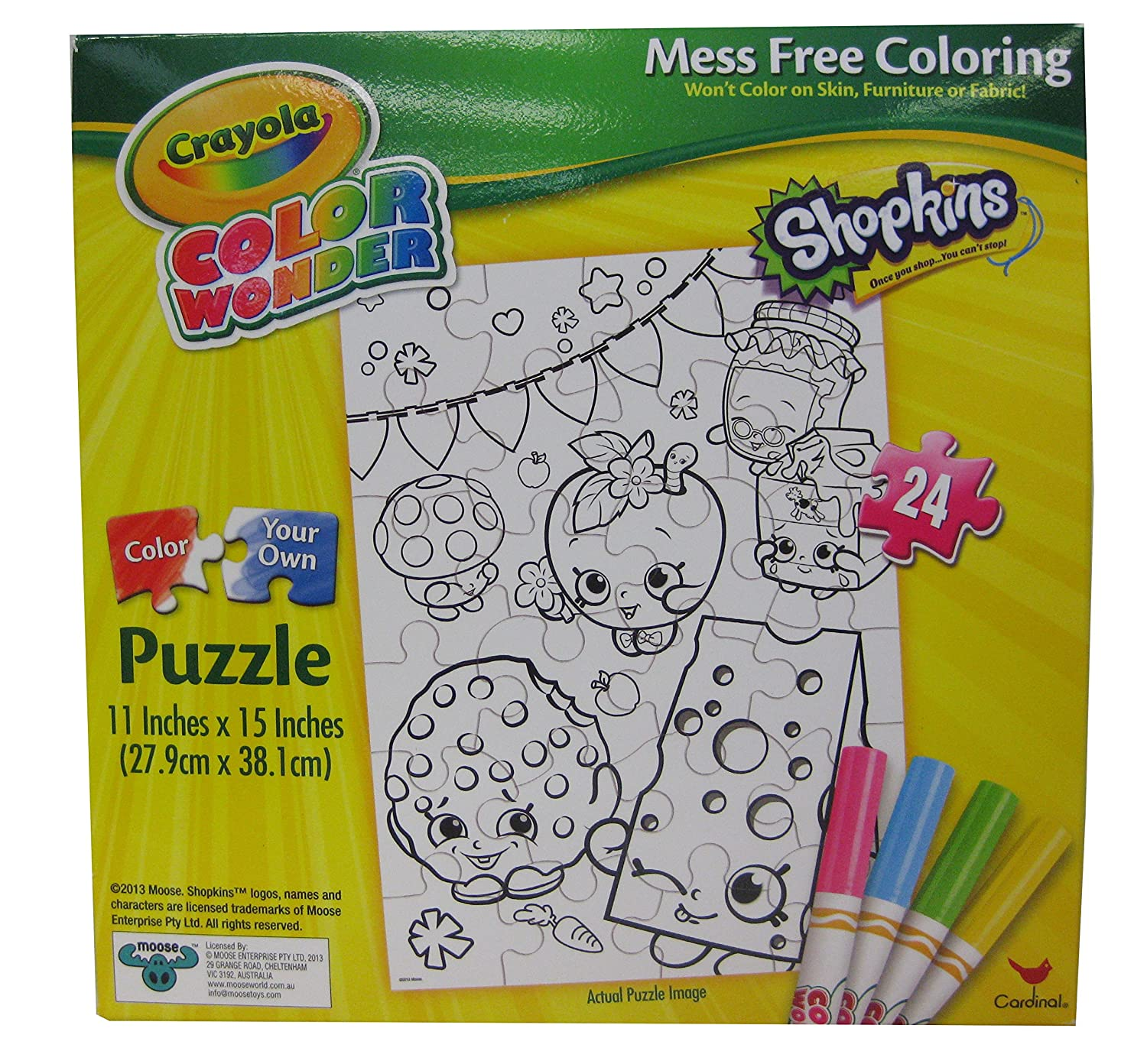Where to buy shopkins coloring book - Amazon Com Crayola Color Wonder Shopkins Puzzle 24 Pcs With 4 Color Makers Puzzle Designs May Vary Toys Games