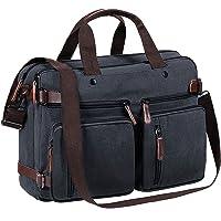 TECOOL Hombres Messenger Bag, Convertible Portatil Mochila Travel Backpack Bolsa de Mensajero Lona Bolso Bandolera Mujer…
