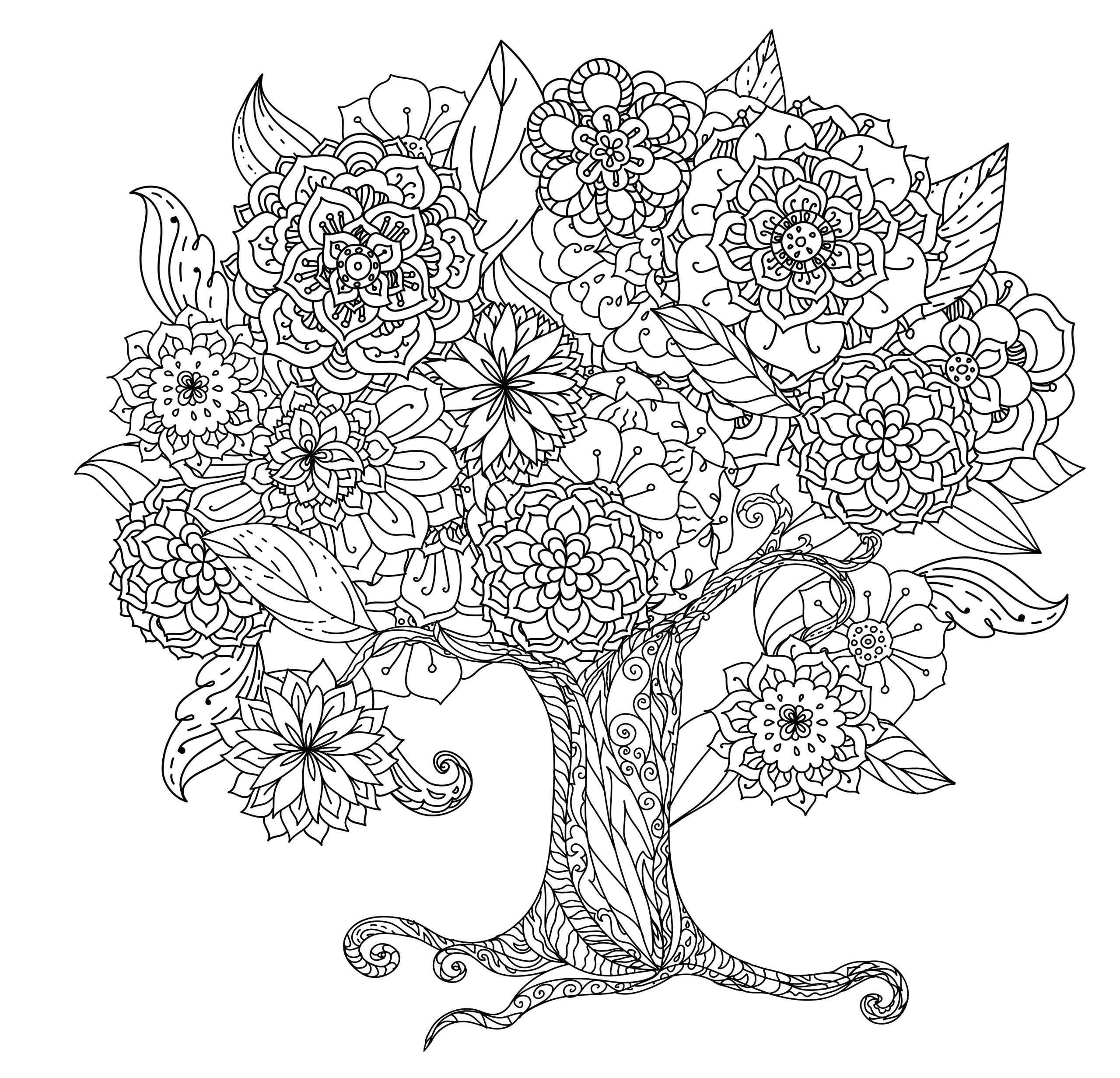 Amazon.com: Tranquil Trees Adult Coloring Book (31 stress-relieving ...