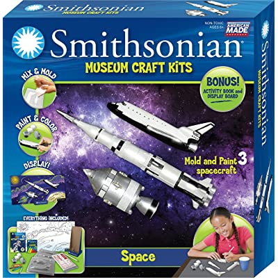 Smithsonian Space Perfect Cast Museum Cast, Paint, Display and Learn Craft Kit: Toys & Games