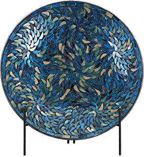 Imax 80034 Peacock Mosaic Charger and Stand in Blue \u2013 Antique Glass Plate Decor Accessory  sc 1 st  Amazon.com & Amazon.com: ArioCraft Handmade Decorative Ceramic Plate: Home \u0026 Kitchen