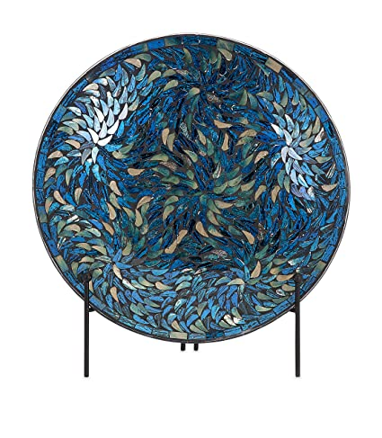 IMAX 80034 Peacock Mosaic Charger and Stand in Blue \u2013 Antique Glass Plate Decor Accessory  sc 1 st  Amazon.com & Amazon.com: IMAX 80034 Peacock Mosaic Charger and Stand in Blue ...