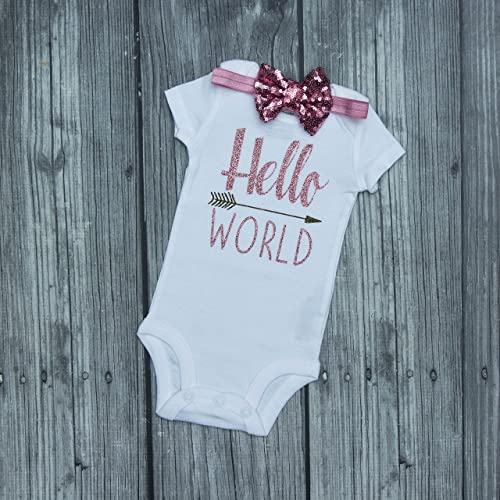 21de9c6c5 Hello World Bodysuit - Baby Bodysuit - Newborn Bodysuit - Hello World - Coming  Home Outfit - Take home outfit - baby shower gift - baby announcement ...