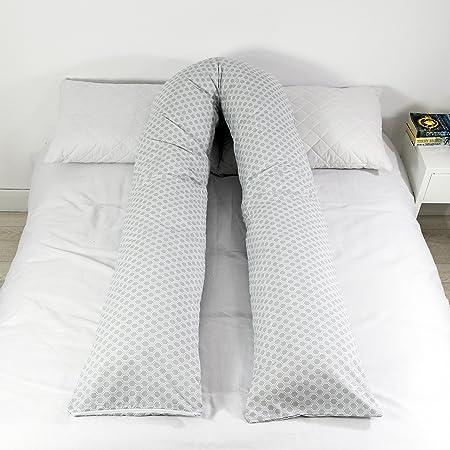 Black Elite Pillows 12ft U Pillow with Case