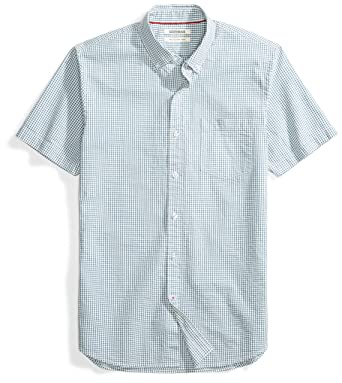 57f5fffcba39 Amazon.com  Goodthreads Men s Slim-Fit Short-Sleeve Seersucker Shirt ...
