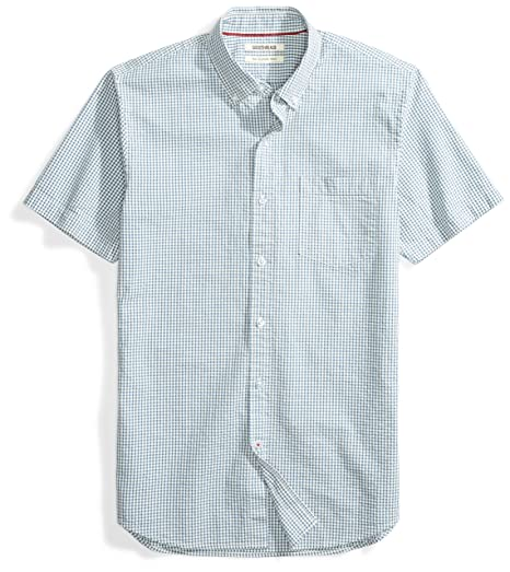 0617f6b07d Amazon Brand - Goodthreads Men's Slim-Fit Short-Sleeve Seersucker Shirt
