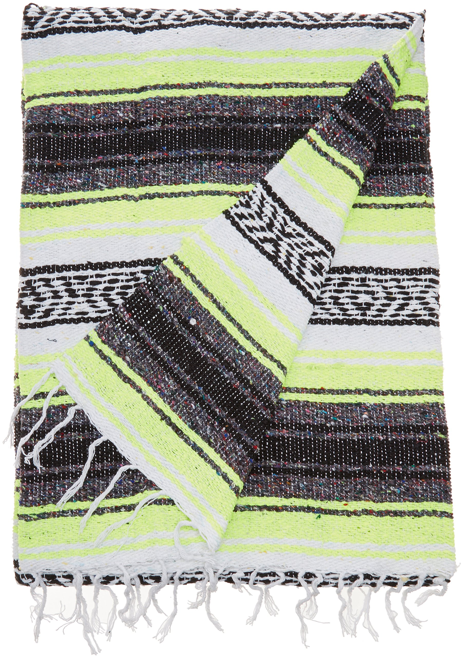 "Authentic Mexican Falsa Blanket - Blanket size approximately 76"" L x 53"" W inches Authentic Mexican Blanket Made in Mexico Thick blanket weighs 3.5 pounds - blankets-throws, bedroom-sheets-comforters, bedroom - A1pEi2JvhEL -"