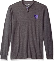 Twitch Men's Embroidered Thermal Henley