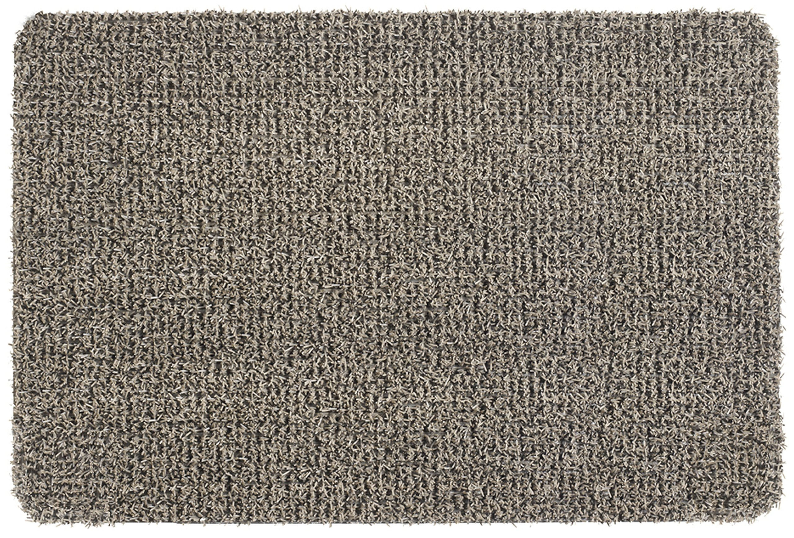 Grassworx Clean Machine Flair Doormat, 24'' x 36'', Earth Taupe (10372034) by Grassworx