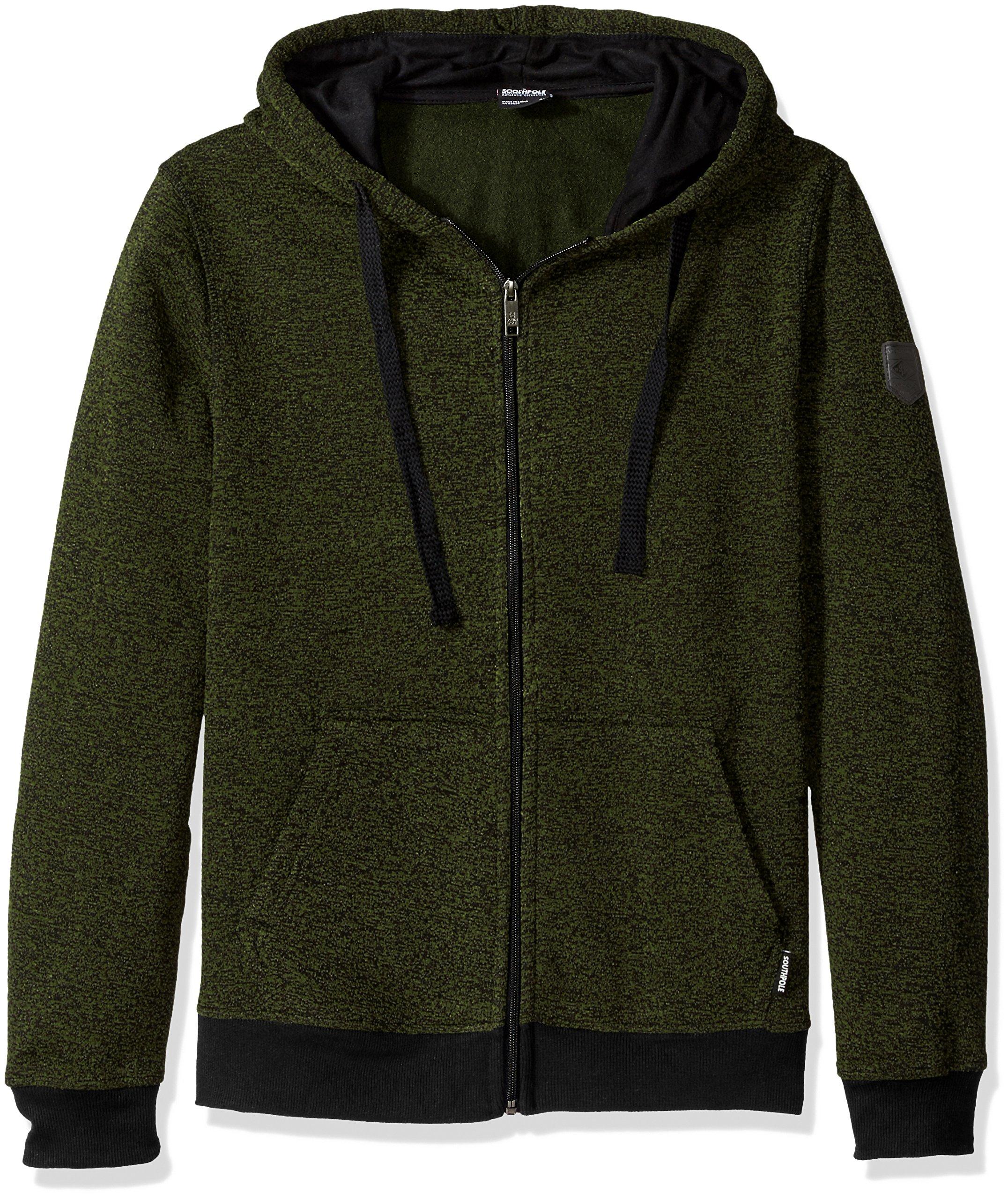 Southpole Basic Marled Fleece Hooded Full Zip Jacket