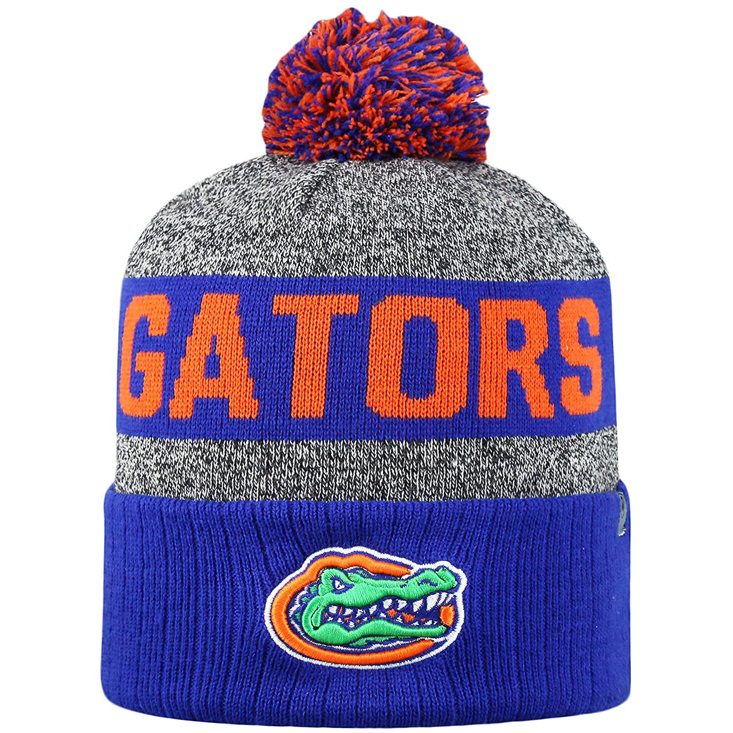2224ad0d23b Amazon.com   Top of the World NCAA Arctic Striped Cuffed Knit Pom Beanie Hat-Alabama  Crimson Tide   Sports   Outdoors