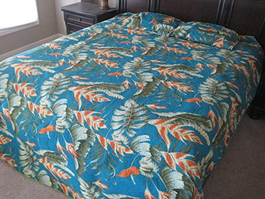 Amazon.com: Kauhale Living Extra Large King Hawaiian Bedspread