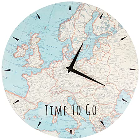 Sass belle time to go vintage map wall clock multi colour amazon sass belle time to go vintage map wall clock multi colour gumiabroncs Gallery