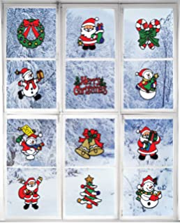 Amazoncom White Snowflakes Window Clings Reusable No Mess - Snowflake window stickers amazon