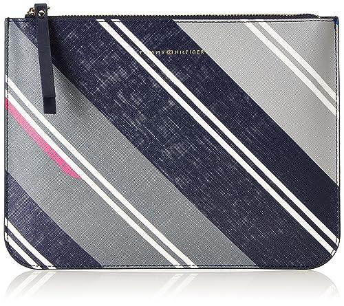 Love Crossover Print, Womens Cross-Body Bag, Grau (Hella Stripes/navy), 2.5x20.5x25.5 cm (B x H T) Tommy Hilfiger