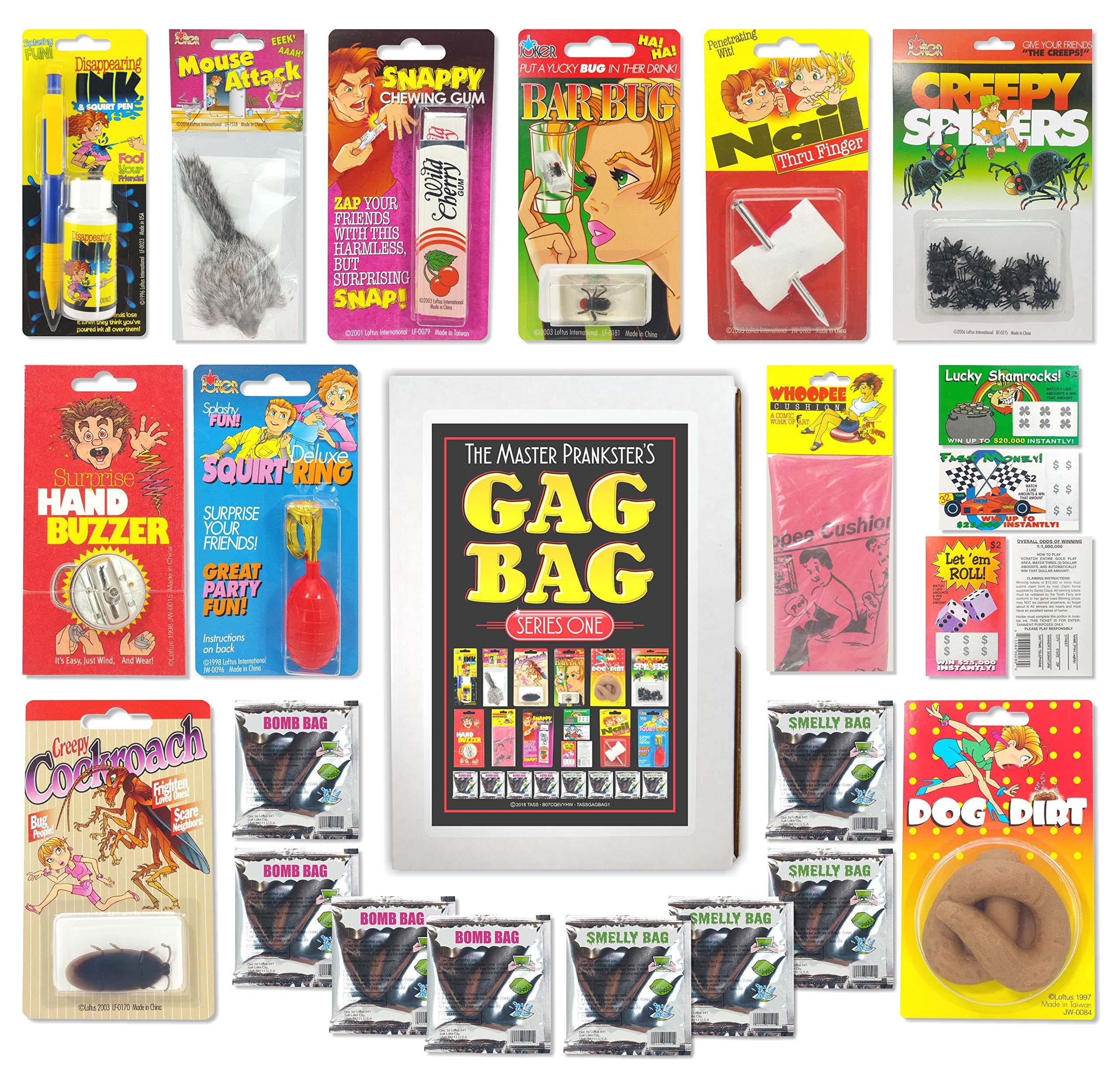 TASS The Master Prankster's Gag Bag Series One Prank Kit, Box, Pack, Gift, Set Funny Classic & New Novelties Jokes by TASS