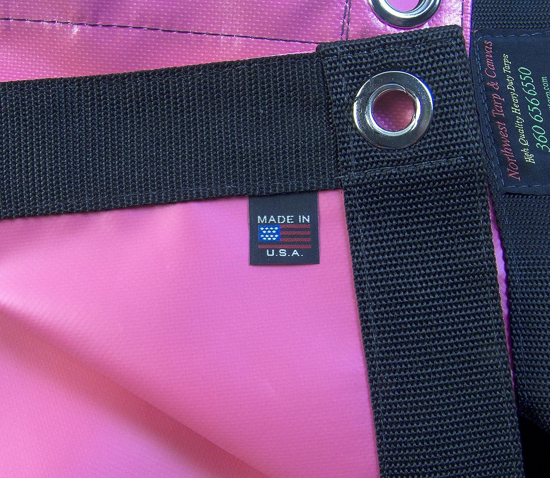 18 Oz Tarp Waterproof Pink Vinyl w// Reinforced Edges Heavy Duty