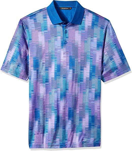 Bugatchi Mens Mercerized Cotton Short Sleeve Polo Shirt