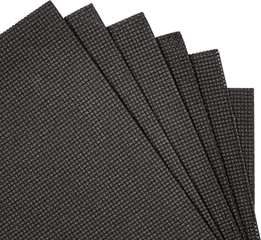 Bright Creations Cloth Cross Stitch Fabric 18 x 12 in, Black, Pack of 6