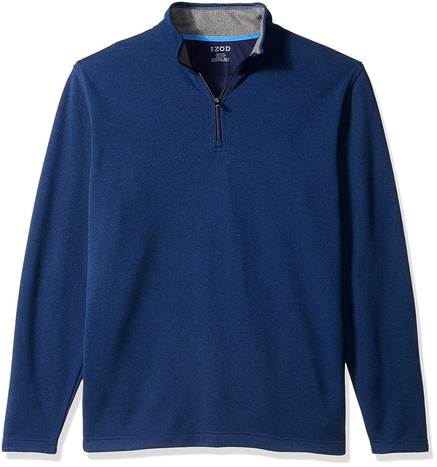 IZOD Men's Big and Tall Saltwater Solid 1/4 Zip Sweater IZOD Men's Sportswear