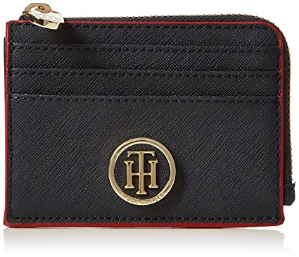 Tommy Hilfiger - Honey Zip Card Holder, Carteras Mujer, Azul (Tommy Navy/
