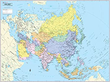 maps of asian continent