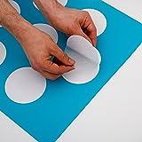 12x große Anti Rutsch Sticker mit gratis Klebeschablone für Badewanne und Dusche
