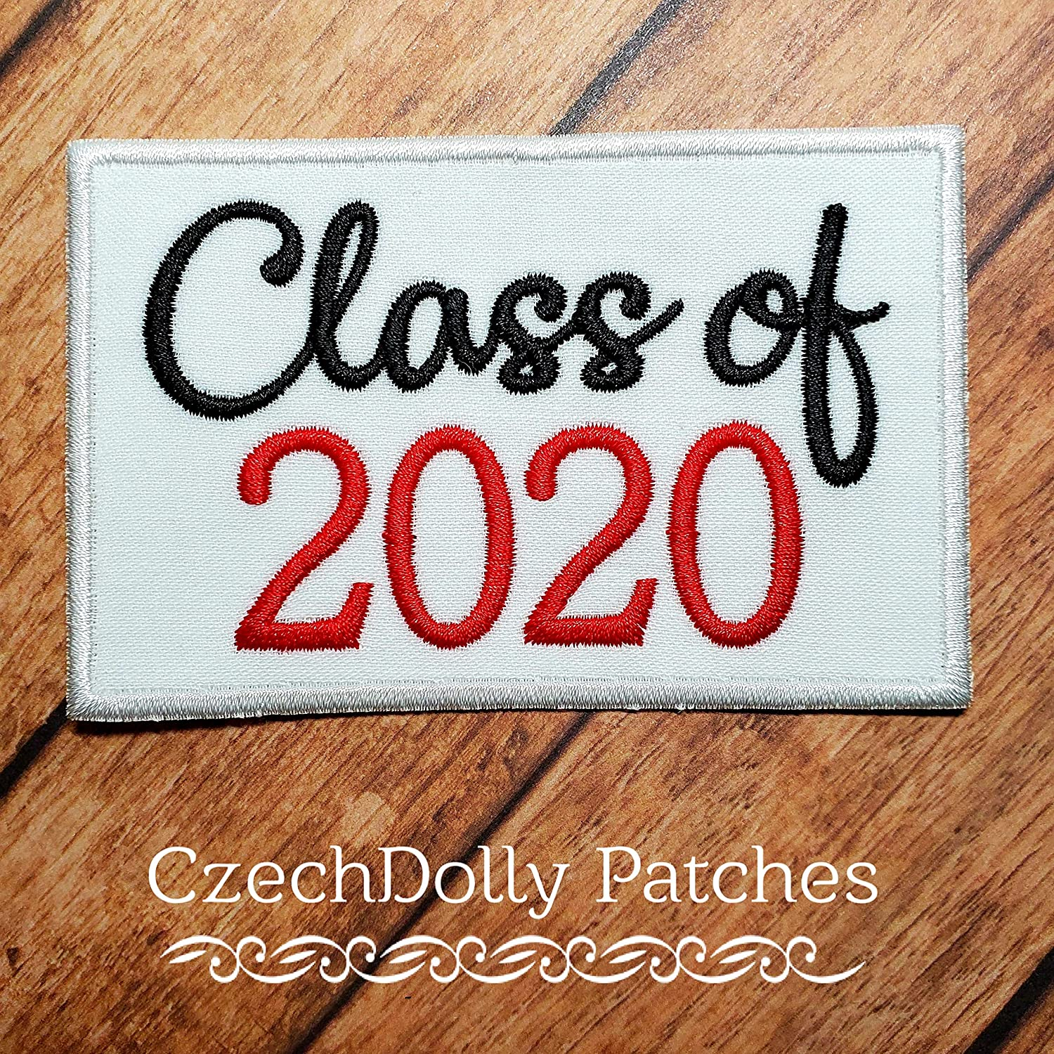 Class of 2020 Graduation Patch Iron-on or Sew-on Applique Embroidered Patch 2021 2022 2023 2024-006