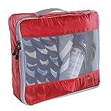 Lewis N Clark Electrolight Packing Cube Set, 2pk, Red