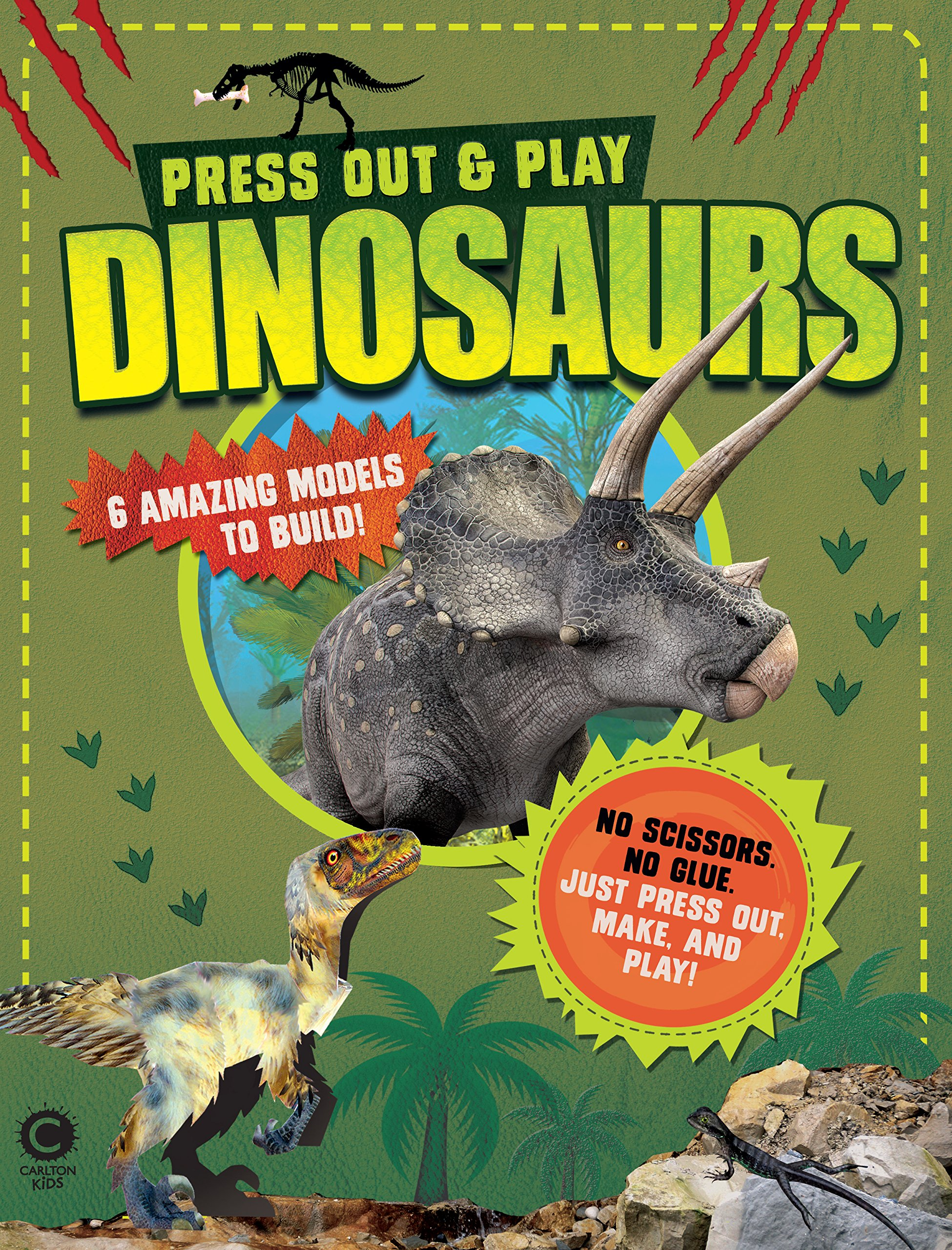 Press Out & Play: Dinosaurs: 6 Amazing Models to Build! Text fb2 book