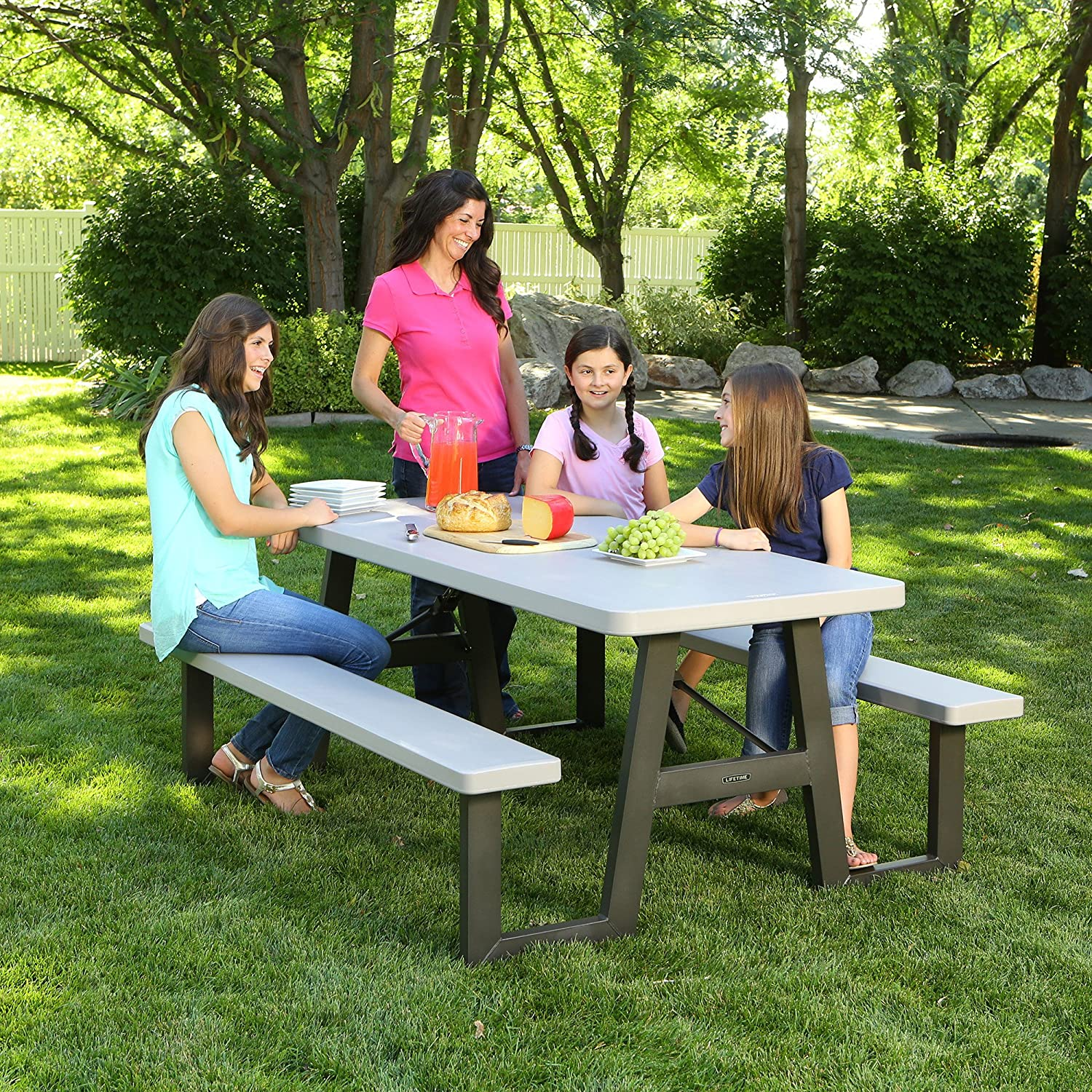 Amazon.com: Lifetime, mesa para picnic plegable, 6 pies ...
