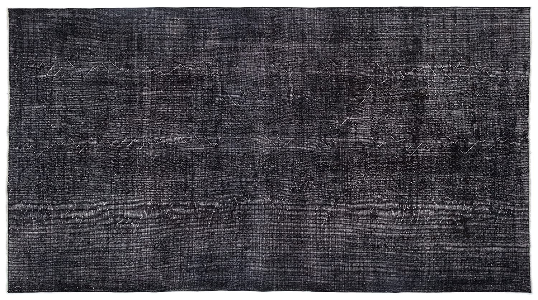 Bespoky ビンテージ 手織 ラグ 黒 大きいサイズ 179 X 328 Cm B07HNPBRYF