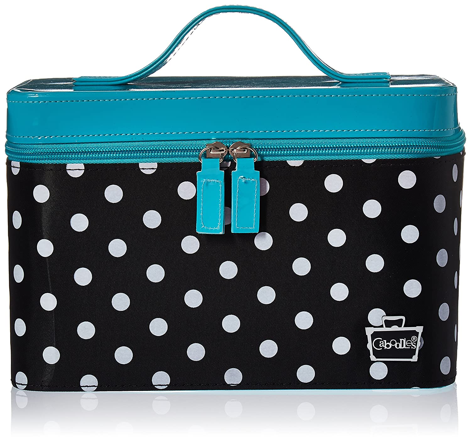 Caboodles Gilded Pleasure Nail Valet with White Polka Dots, Black, 2.36 Pound 584214