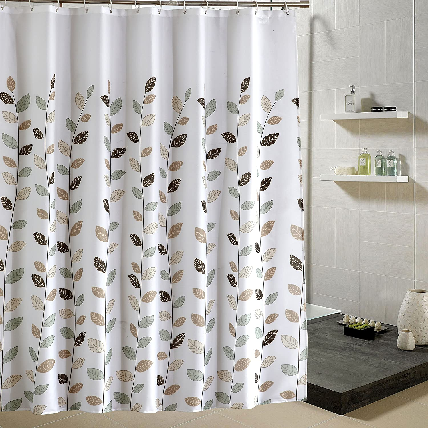 Amazon Dolii Fall Leaves Printed Shower Curtain For Bathroom Polyester Fabric With HooksLittle Leaf72x72 Home Kitchen