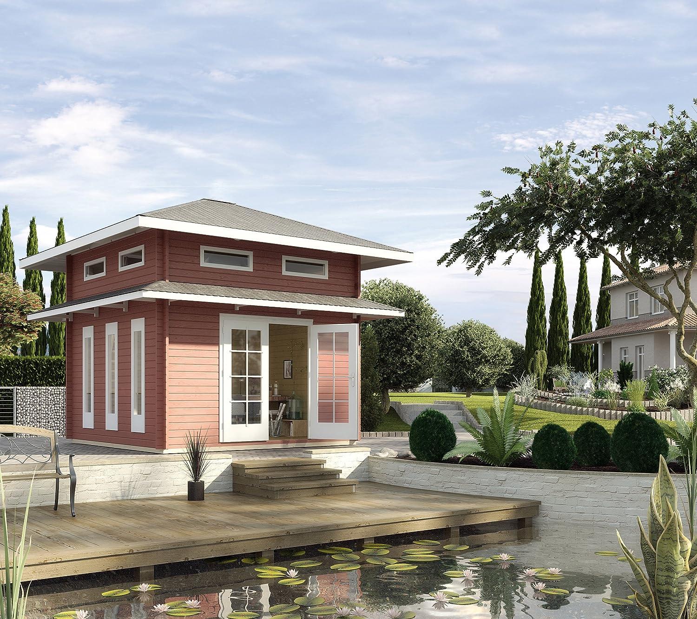 Weka Gartenhaus 157 45 mm Weekend Deluxe inkl. Schlafboden